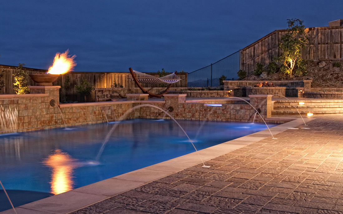San Diego Outdoor Living Spaces: Outdoor Living Spaces W Pool And Firepit Gallery Of San