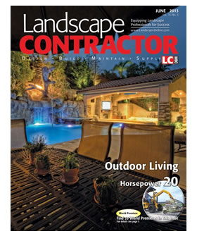 Nick Martin Landscape Architect Featured Project Cover of Landscape Contractor Magazine June 2013