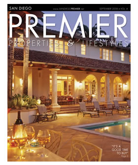 Nick Martin Landscape Architect as seen in San Diego Premier Properties & Lifestyle Magazine Sept 2006.