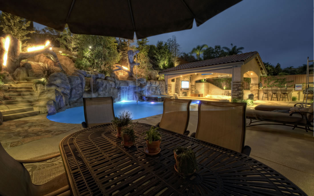Outdoor Living Room Pool Design Featured Project